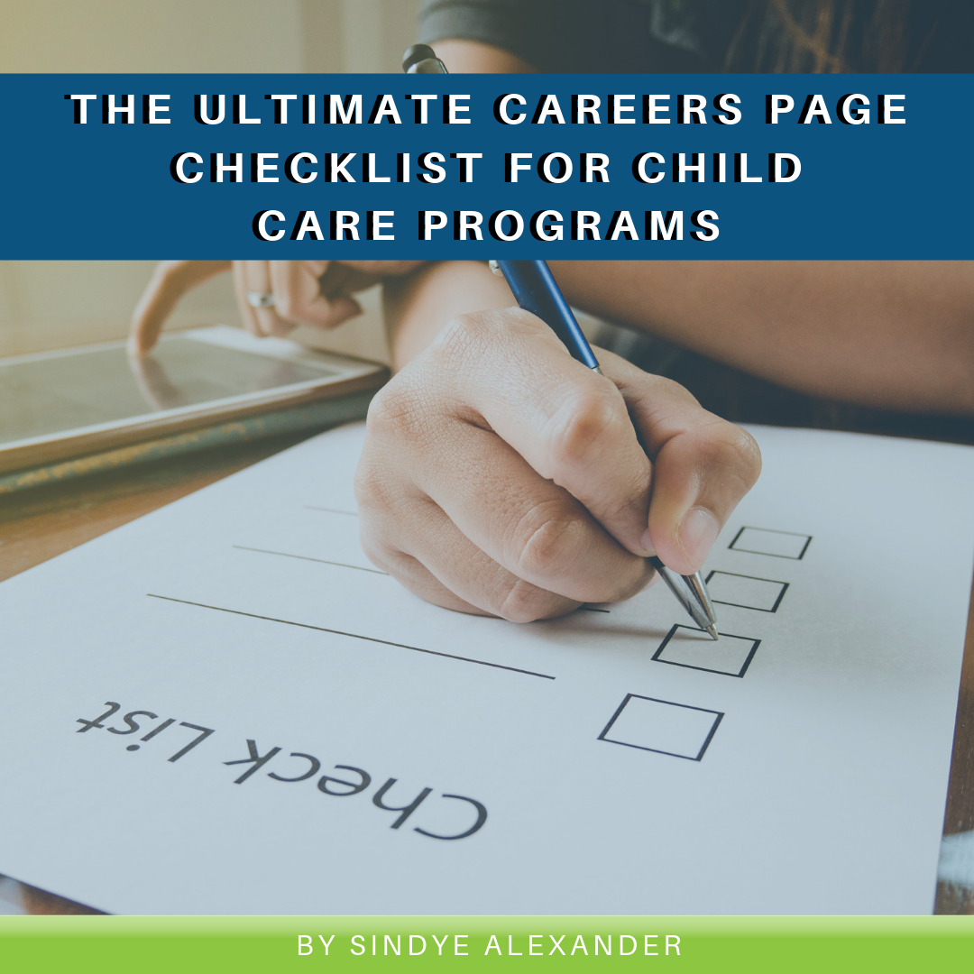 The Ultimate Careers Page Checklist for Child Care Programs