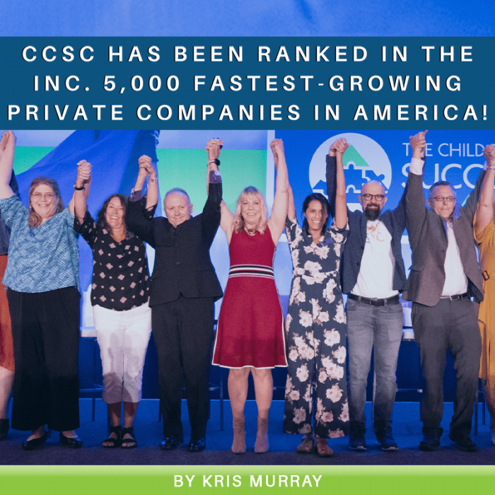 CCSC Has Been Ranked in the Inc. 5,000 Fastest-Growing Private Companies in America!